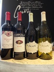 エレノア レッド・ワイン カリフォルニア 09 &コッポラ・ロッソ&ビアンコ ロッソ カリフォルニア  11 &フランシス・フォード・コッポラ  ヴォトル・サンテ ピノ・ノワール・シャルドネ カリフォルニア 11