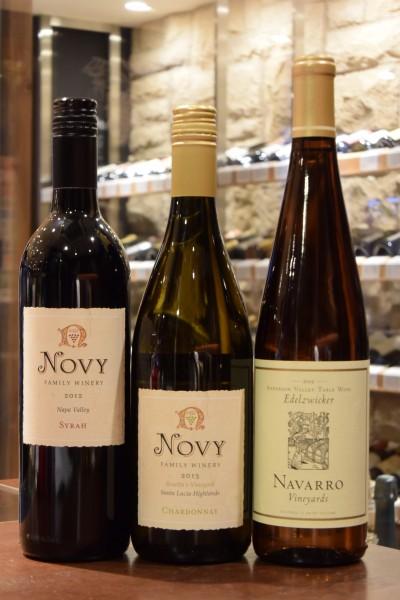 ノヴィ シラー ナパ・ヴァレー 12 & ノヴィ ロゼラズ・ヴィンヤード シャルドネ 13 & ナヴァロ エデルツヴィッカーアンダーソンヴァレー