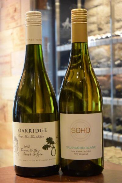 オーバー ザ ショルダー ピノ・グリージョ 12 オークリッジ &ソーヴィニヨン・ブラン 14 ソーホー・ワイン・コー