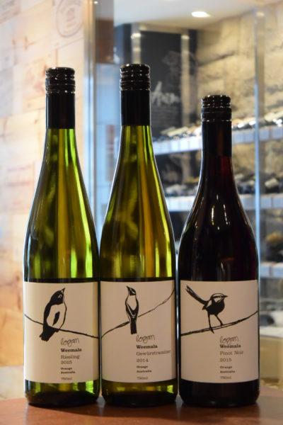 ウィマーラ リースリング 15 & ウィマーラ ゲヴュルツトラミネール 15 & ウィマーラ ピノ・ノワール  ローガン・ワインズ 15